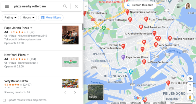 nearby search google maps
